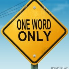 one-word-only